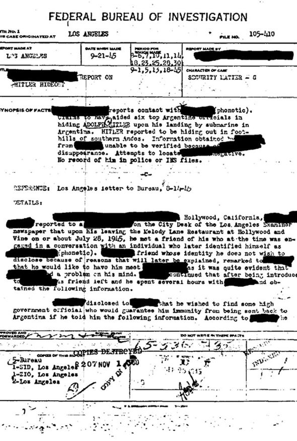 fbi hitler file