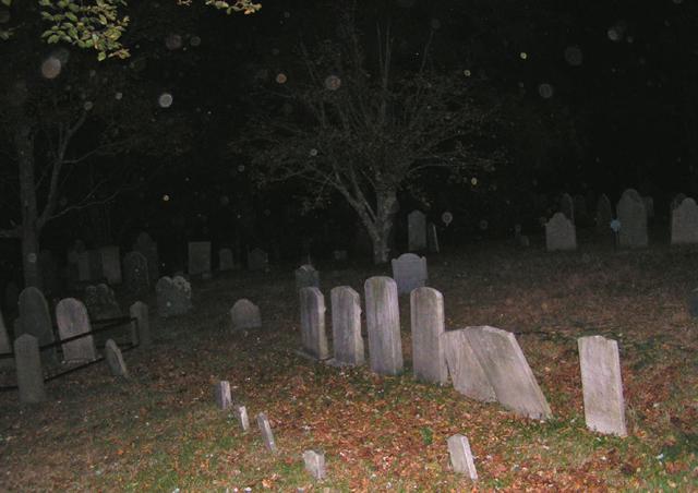 묘지에 보이는 오브