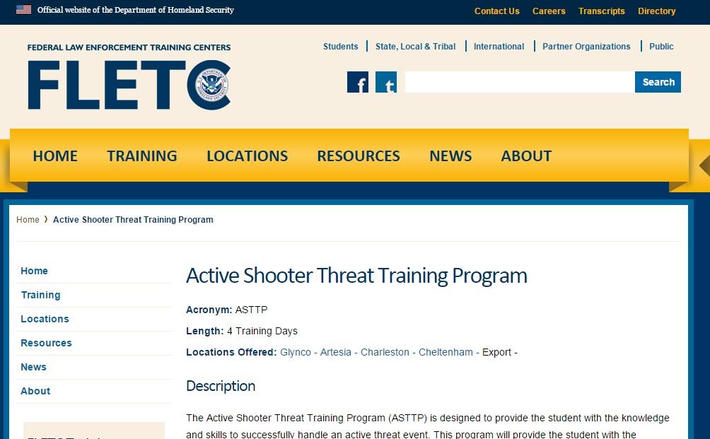 총격사고훈련